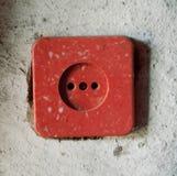 Un incavo elettrico sulla parete Fotografia Stock Libera da Diritti