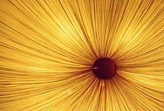 Un indicatore luminoso giallo Fotografia Stock