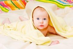 Un infante dei quattro mounth Immagine Stock Libera da Diritti
