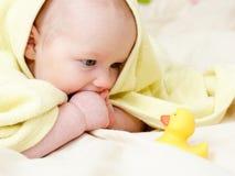 Un infante dei quattro mounth Fotografia Stock Libera da Diritti