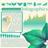 Un infographics de una hoja stock de ilustración