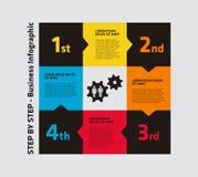 un infographics di 4 punti Immagini Stock