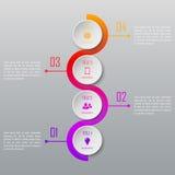 Un infographics di quattro punti Modello di Infographic Immagini Stock