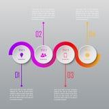 Un infographics di quattro punti Modello di Infographic Fotografia Stock Libera da Diritti