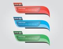 Un infographics di tre punti immagine stock libera da diritti