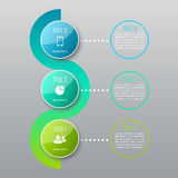 Un infographics di tre punti Immagini Stock Libere da Diritti