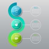 Un infographics di tre punti Fotografia Stock