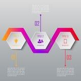 Un infographics di tre punti Modello di Infographic Immagine Stock Libera da Diritti