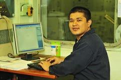 Un ingeniero del envío imagen de archivo