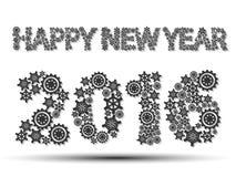 un ingranaggio da 2016 buoni anni Immagini Stock