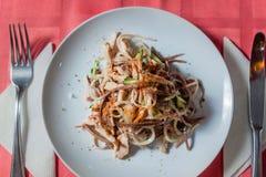 Un'insalata deliziosa Fotografie Stock Libere da Diritti