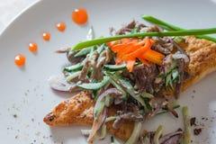 Un'insalata deliziosa Fotografia Stock