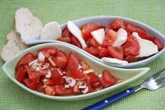 Un'insalata fresca dei pomodori Fotografia Stock Libera da Diritti