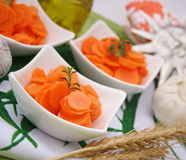 Un'insalata fresca delle carote Immagine Stock Libera da Diritti