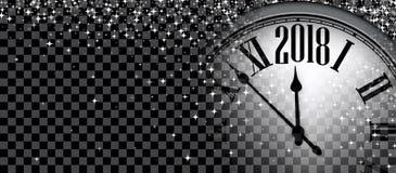 Un'insegna da 2018 nuovi anni con l'orologio royalty illustrazione gratis