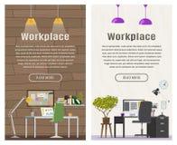 Un'insegna di due verticali per web design Immagini Stock Libere da Diritti