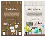 Un'insegna di due verticali per web design Fotografia Stock