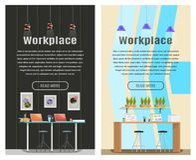 Un'insegna di due verticali per web design Immagine Stock Libera da Diritti