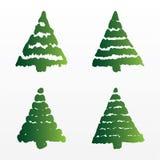 Un insieme degli alberi di Natale di vettore Immagine Stock