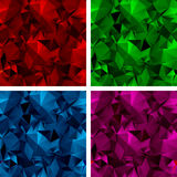 Un insieme degli ambiti di provenienza poligonali 3 Fotografia Stock
