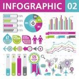 Elementi 02 di Infographic Fotografia Stock