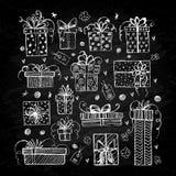Un insieme dei contenitori di regalo Royalty Illustrazione gratis