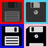 Un insieme dei floppy disk Immagini Stock