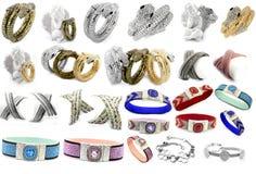 Un insieme dei gioielli delle foto - braccialetti Immagini Stock Libere da Diritti