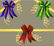 Un insieme dei nastri festivi colorati multi Immagine Stock