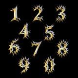 Un insieme dei numeri con un effetto esplosivo Immagine Stock Libera da Diritti