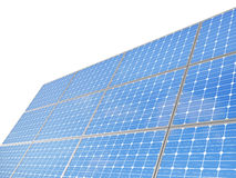 Un insieme dei pali del pannello solare dell'ambiente, Immagine Stock