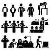 Pittogramma di lavoro del responsabile dell'operaio Fotografia Stock Libera da Diritti