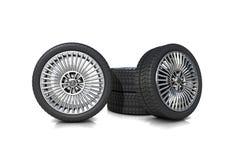 Un insieme dei pneumatici di rendimento elevato immagini stock libere da diritti