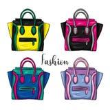 Un insieme dei sacchetti della spesa colorati multi Vector l'illustrazione per una cartolina o un manifesto, stampa per i vestiti royalty illustrazione gratis