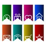 Un insieme dei segnalibri colourful Immagini Stock