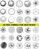 Un insieme dei simboli della cima d'albero Fotografia Stock