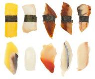 Un insieme dei sushi di dieci Fotografia Stock Libera da Diritti