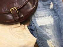 Un insieme dei vestiti Fotografia Stock