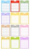 Un insieme del 2011 calendario Fotografia Stock