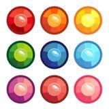 Un insieme del colorato di intorno alle gemme Immagini Stock
