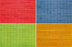 Un insieme del fondo della paglia di quattro colori Fotografia Stock