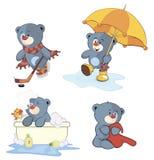 Un insieme del fumetto degli orsi illustrazione vettoriale
