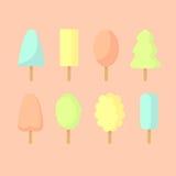 Un insieme del gelato semplice Immagine Stock Libera da Diritti