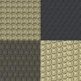 Un insieme del modello astratto quattro di lana marrone Fotografia Stock Libera da Diritti