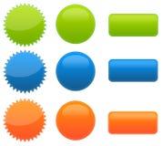 Un insieme del Web 9 2.0 tasti lucidi Fotografia Stock