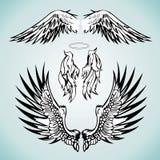 Un insieme dell'angelo traversa l'immagine volando Royalty Illustrazione gratis
