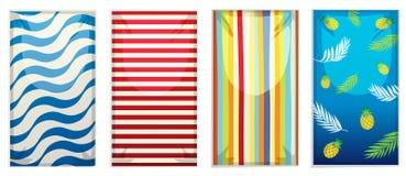 Un insieme dell'asciugamano di spiaggia royalty illustrazione gratis