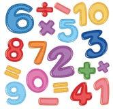 Un insieme dell'icona di per la matematica e di numero illustrazione vettoriale