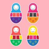 Un insieme della bambola di Matryoshka di quattro Illustrazione di Stock
