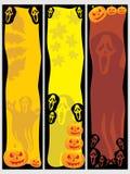 Un insieme della bandiera di tre Halloween Immagini Stock Libere da Diritti